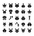 robotics solid icons vector image