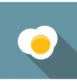 Scrambled Egg Flat Icon with Long Shadow vector image