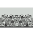 Seamless floral lace ribbon on gray vector image vector image