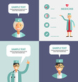 Set of Flat Design of Doctor Infographic Design vector image vector image