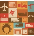 Shipping and Logistics Retro Icons vector image