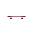 Skateboard Icon vector image