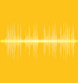 sound banner color logo equalizer isolated vector image vector image
