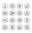 startup line icons product launch project funding vector image