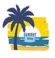 summer holiday coconut tree sunset background vect vector image vector image