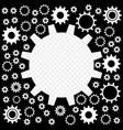 the gears are shiny silver vector image vector image