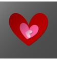 Three red paper heart vector image vector image