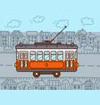 tram car vector image