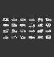 truck icon set grey vector image vector image