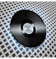 vinyl record with metallic centre on lattice vector image vector image
