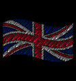 waving great britain flag pattern of thermometer vector image vector image