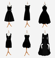 Woman black dresses vector image vector image
