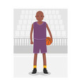 young american african basketball player in vector image