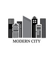 modern city and skyscrapers vector image