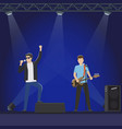 musical group performs on big stage vector image