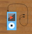 mp3 player with headphone vector image