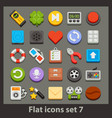 flat icon-set 7 vector image