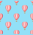 air balloon with clouds pattern vector image
