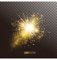 Background with sparkles and glitter vector image