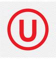 basic font letter u icon design vector image vector image