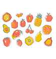 big abstract geometric fruit set vector image vector image