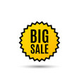 big sale special offer price sign vector image vector image