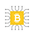 bitcoin icon cryptocurrency concept flat design vector image vector image