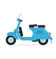 blue scooter motorcycle vector image vector image