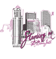 building print building print pink black whit vector image vector image