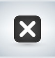 cancel cross icon flat design square internet vector image