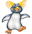 Cartoon funny penguin rockhopper vector image