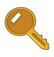 cartoon image of key icon key symbol vector image vector image