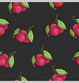 cherry seamless vector image vector image