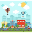 City scape background vector image