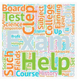 CLEPP Exam text background wordcloud concept vector image vector image