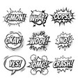 comic text bubbles isolated sketch icons set vector image