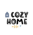 cozy home simple flat bold cute vector image