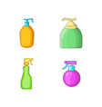 dispenser icon set cartoon style vector image