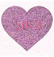 doodle hearts with text love vector image vector image