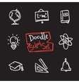 doodle style school set Cute hand drawn vector image vector image
