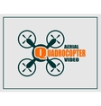 Drone icon Quadrocopter aerial video text vector image