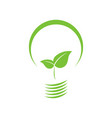 eco-friendly leaf bulb vector image