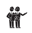 engineering team black concept icon vector image vector image