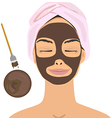 face mask2 vector image vector image
