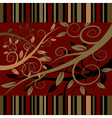 floral ornament on a dark red background vector image