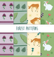 forest cute patterns vector image