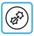 Gear Integration Icon In a Frame vector image