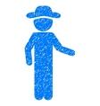 Gentleman Invitation Grainy Texture Icon vector image vector image