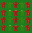 gingerbread backgroundchristmas vector image vector image