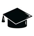 graduation cap icon simple black style vector image vector image